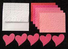 5 DIY embossed heart Hearts valentine card Cards Handmade Valentines Wedding