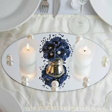 """4 Pack 12"""" Upscale Oval Table Top Mirror Wedding Party Banquet Centerpiece"""