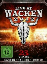 Live At Wacken 2012 3 x DVD Set NEW/SEALED Metal Music Saxon, Overkill, COF R0