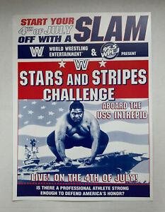 "WWF WWE Stars And Stripes Challenge USS Intrepid Promo Poster Yokozuna 12"" x 16"""
