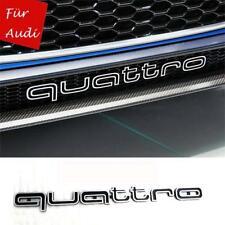 Schwarz Grill Badge Logo Embleme RS4 A4 A6 A8 S3 S6 Q5 Q7 TT für Audi QUATTRO
