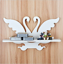 Butterfly-Swan Hand Carved Hanger Corner Storage Wall Shelf Wall-mounted