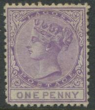 Lagos QV 1874 1d purple lilac unused no gum