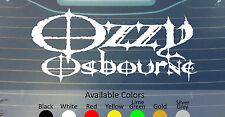 OZZY OSBOURNE VINYL DECAL STICKER CUSTOM SIZE/COLOR IRON MAIDEN BLACK SABBATH