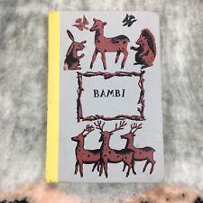 Vintage 1929 Bambi Book By Felix Salten Junior Deluxe Editions