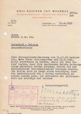 GLAUCHAU, Brief 1959, Emil Meister Abt. Holzbau