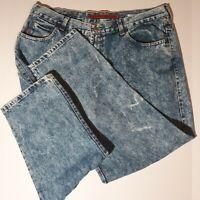 VTG USA Bugle Boy Acid Wash Jeans High Waisted Dad 40 M Actual 40 x 28 Short