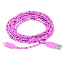 Long 3m USB Cable for iPhone 6S 6 5S 5C Data Charger Lead Extension Pink Cord