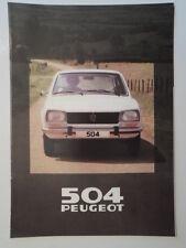 PEUGEOT 504 RANGE 1980 UK Mkt Sales Brochure