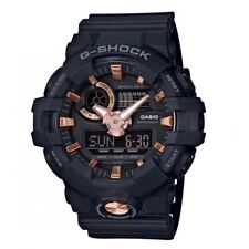 Casio G-Shock * GA710B-1A4 Front Button Anadigi Black & Rose Gold Watch for Men