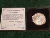 2000 American Eagle Silver Dollar 1 Oz Fine Silver Uncirculated Sealed Case NICE