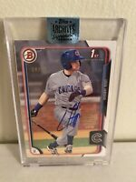 2018 Topps Archives Signature Series Ian Happ 2015 Bowman Auto /99 CHI Cubs #28