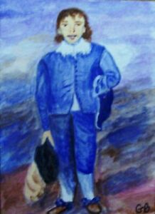 ACEO VERSION OF 'BLUE BOY' BY THOMAS GAINSBOROUGH SIGNED ORIGINAL