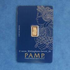 Lingots d'Or 1 g 1 Gramme Pamp Suisse Fortuna Blister or 99,99 gold bar 1 g
