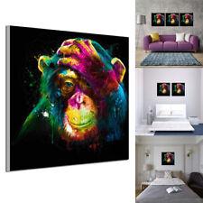 1 Pcs Peinture à l'Huile Tableau Abstraite Moderne Gorille Coloré Murale Salon