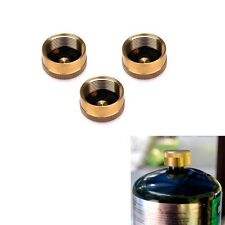 3×Solid Brass 1LB Propane Bottle Block Gas Leakage Cap Refill Protect Disposable