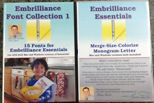 Embrilliance Essentials & Font Collection 1 Combo Embroidery Software + 50 .bx
