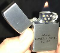 Vintage IDEALINE Petrol Lighter INDIANA LUMBER & SUPPLY CO. DependableFlame HDSA