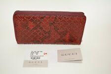 9add00f21952 NIB GUCCI WOMENS MICRO GG PYTHON LEATHER ZIP AROUND WALLET CLUTCH MADE IN  ITALY