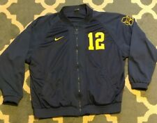 Vtg Nike Team Player Issued Michigan Wolverines Football Jersey Jacket Coat
