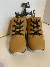 Wonder Nation Toddler Boys size 8 Wheat Boots Easy On/Off Lightweight NWT