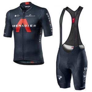 2020 Pro Team Blue Color Men Cycling Jersey Short Sleeve Blue Cycling Jersey Set