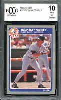 1985 Fleer #133 Don Mattingly Card BGS BCCG 10 Mint+