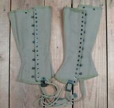 Vintage WWII US Army M-1938 Canvas Military Spats Gaiters Boot Covers Leggings