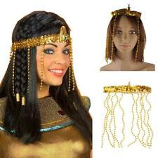 ADULT GOLD BEAD SNAKE EGYPTIAN CLEOPATRA HEADBAND COSTUME HEADPIECE QUEEN