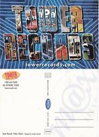 TOWER RECORDS UNUSED ADVERTISING COLOUR POSTCARD