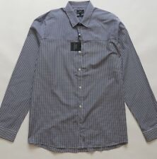Next Men`s Shirts Long Sleeve Cut And Sew Gingham Size XLarge