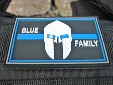 Klettpatch Rubberpatch ca. 8 x 5cm blue family thin blue line Polizei police