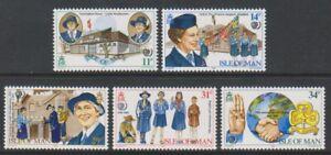 Isle of Man - 1985, Girl Guide Movement set - MNH - SG 281/5