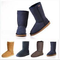 "UGG  Boots 10"" Premium 100%AustralianTwinface Sheepskins Grip-sole Unisex 35-46"