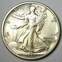 1916-D Walking Liberty Half Dollar 50C Coin - Uncirculated Details (UNC MS)