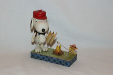 More details for peanuts jim shore snoopy - snoopy with woodstock campfire - #4049414 new in box
