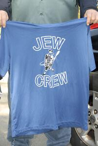 Jew Crew 2xl polyester beer league softball pull over jersey blue baseball rabbi