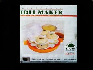 Microwave Idli Maker Rice Cakes Makes 12 Idlis In Just 4 Mins Easy Use Free Ship