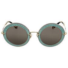 Miu Miu Round Light Brown Sunglasses