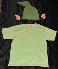 Link From Zelda Shirt Ears & Hat Halloween Costume Kids Boys Size: 10-12 L Youth