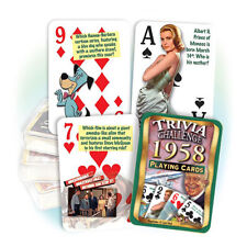 Flickback 1958 Trivia Playing Cards 60th Birthday or 60th Anniversary Gift