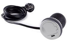 DesignLight SINGLE BOX Steckdose mit USB-Port für die Arbeitsplatte / Schuko /