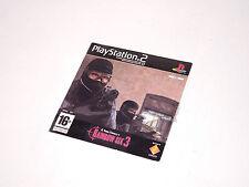 RAINBOW SIX III Promo in sleeve PS2 Playstation 2 videogame 3