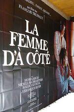 francois truffaut LA FEMME D'A COTE ! affiche cinema geante 3x4m rare