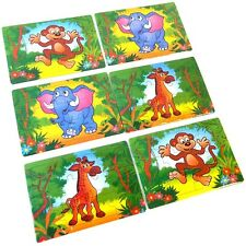 6 Small Jungle Animal Jigsaw Puzzles - Pocket Money Toys