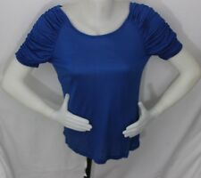 Ruched Sleeve top in a soft,light weight fabric..