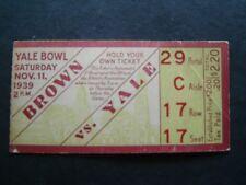 Brown vs Yale College Football Ticket  Stub Yale Bowl Nov 11 1939