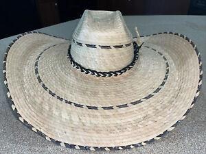 Original wide brim straw hat mens, XL