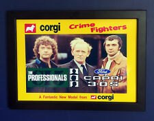 Corgi Toys 342 The Professionals Ford Capri 1980 A4 Size Framed Poster Shop Sign