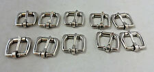 Lot of 10 English Roller Buckles Horse Tack Headstall Spur Straps Stainless 5/8""